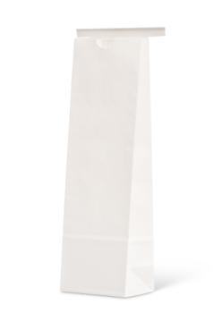 16 oz Narrow White Claycoat Paper Tin-Tie Bag w/Poly Liner