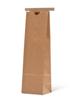 16 oz Narrow Natural Kraft Paper Tin-Tie Bag w/Poly Liner
