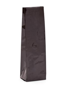 12-16 oz Black Side Gusseted Bag w/ Valve
