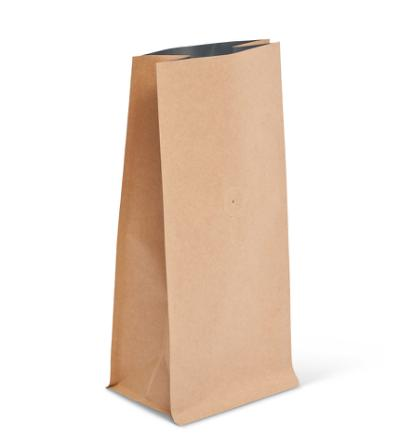 12-16 oz Natural Kraft Block Bottom Bag w/ Valve