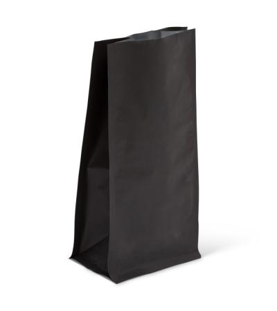 4 oz Matte Black Block Bottom Bag No Valve
