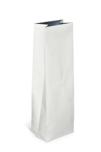 NEW! 12-16 oz White Kraft Side Gusseted Bag w/Valve