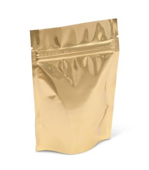 2 oz Gold Stand-Up Pouch w/ Zipper