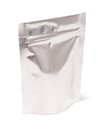 2 oz Silver Stand-Up Pouch W/ Zipper