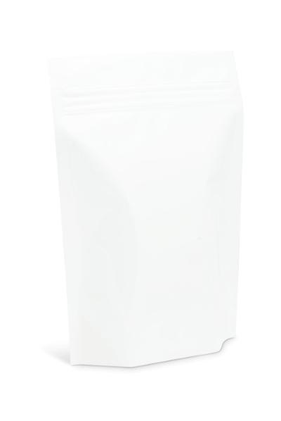 14-16 oz XL White Stand-Up Pouch w/ Aplix Zipper