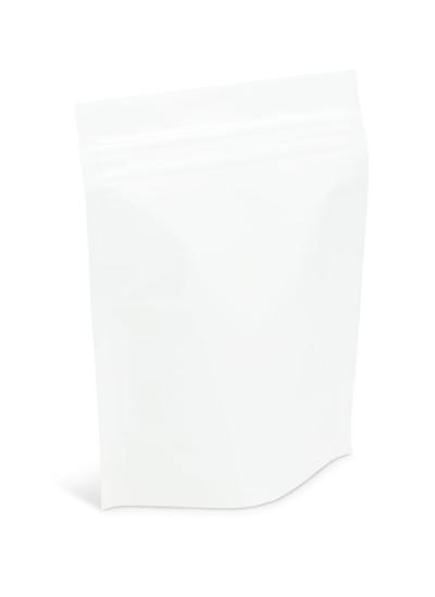 2 lb White Stand-Up Pouch w/ Aplix Zipper