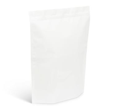 8 lb White Stand-Up Pouch w/ Zipper No Valve