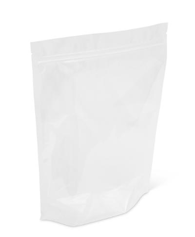 8 lb Clear Stand-Up Pouch w/ Zipper No Valve