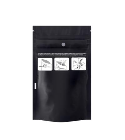 Eighth Child Resistant Black Pouch