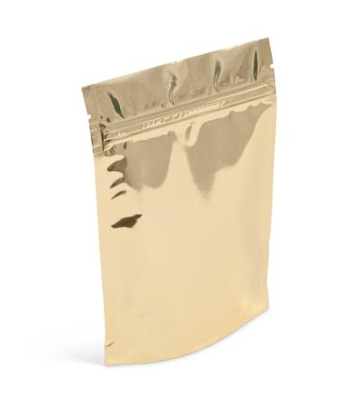 2 oz Gold Metallized Stand-Up Pouch w/ Zipper