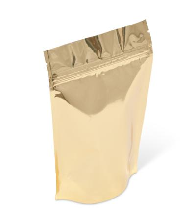 4 oz Gold Metallized Stand-Up Pouch w/ Zipper