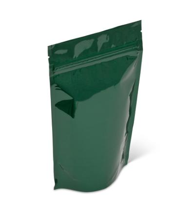 8 oz Green Metallized Stand-Up Pouch w/Zipper