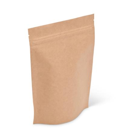 8 oz Natural Kraft  Stand-Up Pouch w/ Zipper