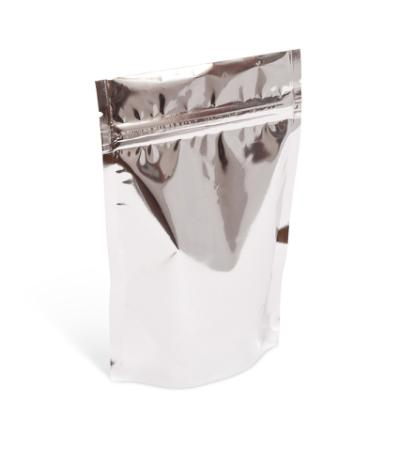 8 oz Silver Metallized Stand-Up Pouch w/Zipper