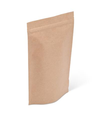 14-16 oz Natural Kraft Stand-Up Pouch w/ Valve and Zipper