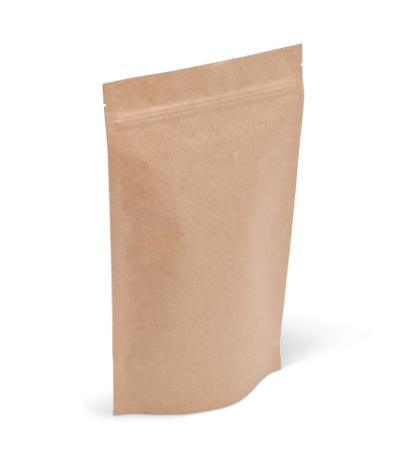 14-16 oz Natural Kraft Stand-Up Pouch w/ Zipper