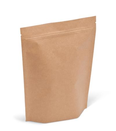 16 oz XL Natural Kraft Stand-Up Pouch w/ Zipper