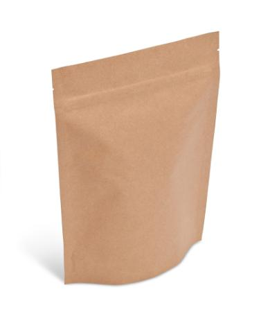 2 lb Natural Kraft Stand-Up Pouch w/ Zipper