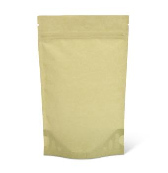 4 oz Light Green Rice Paper Stand-Up Pouch w/Zipper