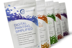 Short run, fast turnaround digital flexible packaging by Pacific Bag, Inc